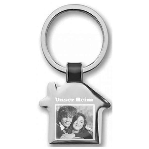 Fotogravur Schlüsselanhänger personalisiert Einzug