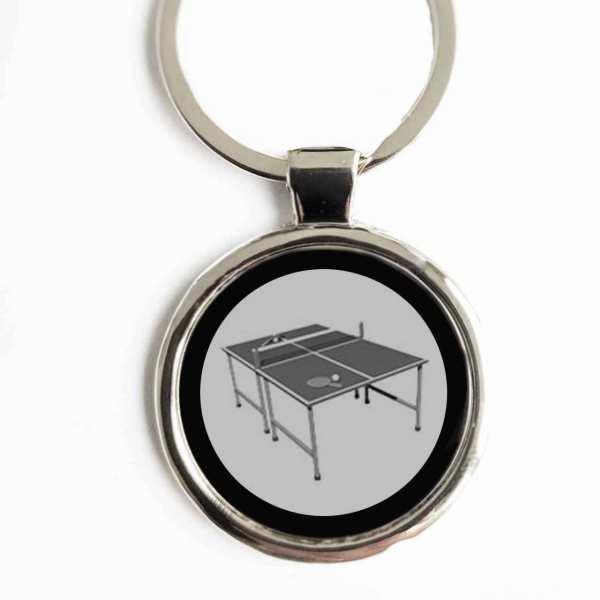 Tischtennisplatte Schlüsselanhänger personalisiert mit Fotogravur und Textgravur