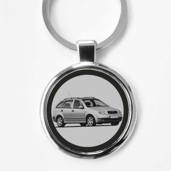 Skoda Fabia Gravur Schlüsselanhänger personalisiert