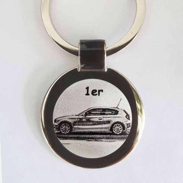 BMW 1er Schlüsselanhänger personalisiert - original Fotogravur