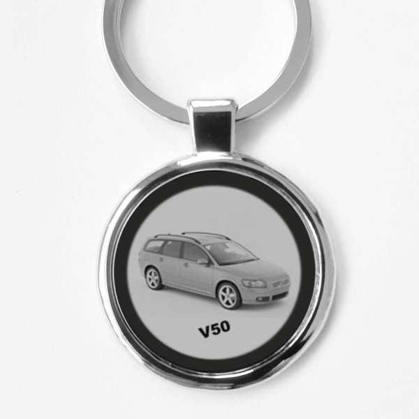 Volvo V50 Kombi Schlüsselanhänger personalisiert mit Gravur
