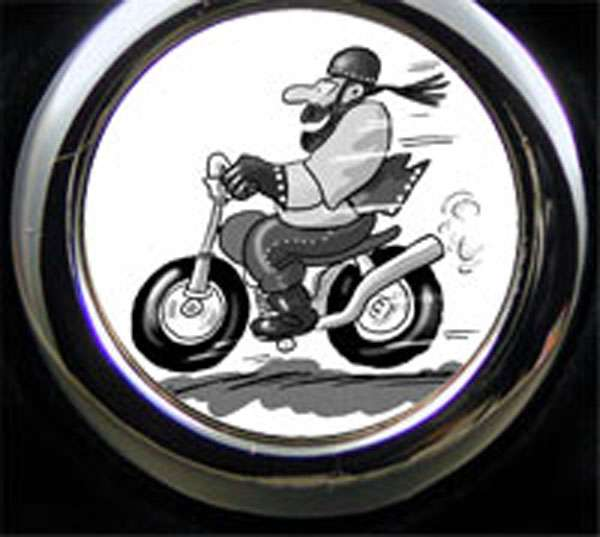Biker Cartoon Schlüsselanhänger