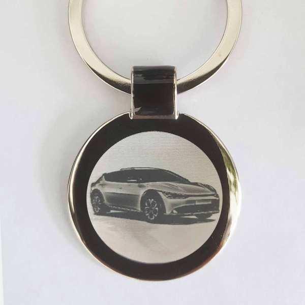 Kia EV6 Elektro Gravur Schlüsselanhänger personalisiert - original Fotogravur