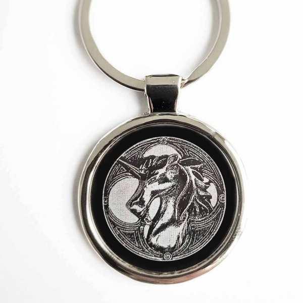 Keltisches Einhorn Gravur Schlüsselanhänger