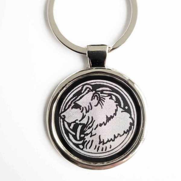 Glücksbringer Bär Schlüsselanhänger personalisiert Totemtier mit Gravur