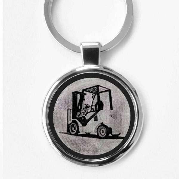 Gabelstapler Gravur Schlüsselanhänger personalisiert - original Fotogravur
