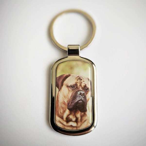 Hunde Schlüsselanhänger mit Foto und Gravur