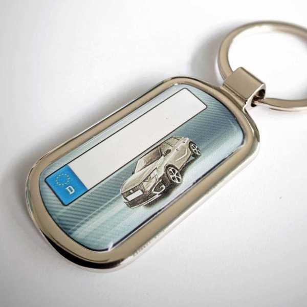 Peugeot 2008 Schlüsselanhänger & Kennzeichen & Gravur auf der Rückseite