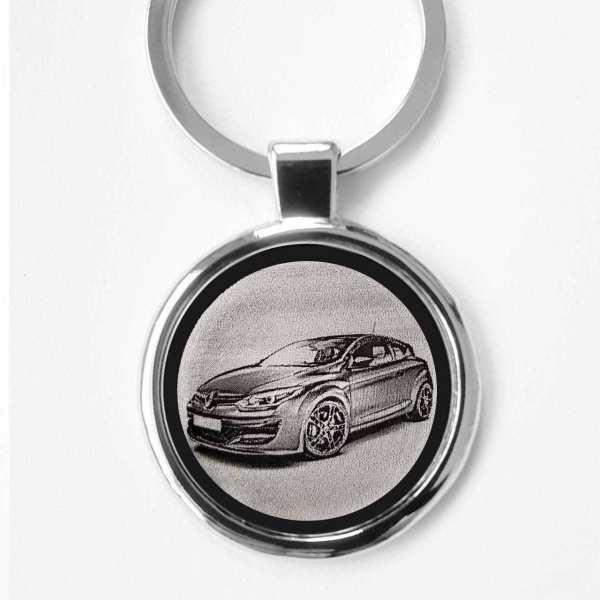Renault Megane R.S. Gravur Schlüsselanhänger personalisiert - original Fotogravur