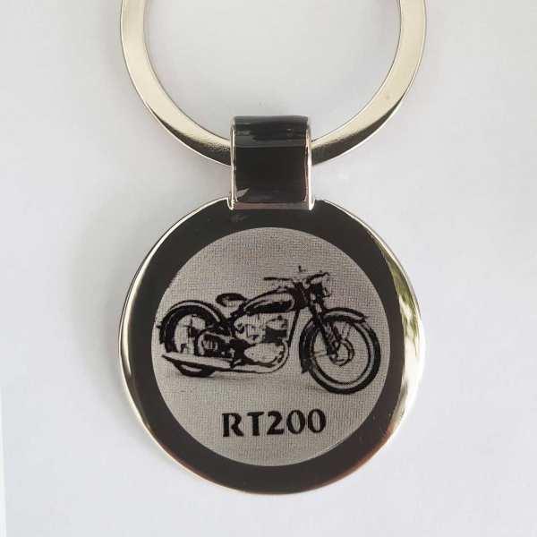 DKW RT200 Gravur Schlüsselanhänger personalisiert - original Fotogravur