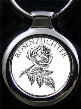 Rosenzüchter als Gravur auf Schlüsselanhänger mit Namensgravur