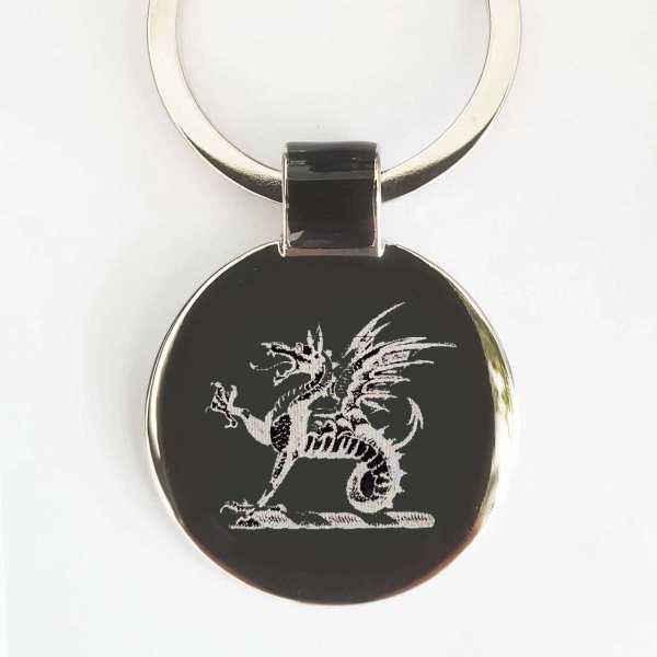 Drachen Schlüsselanhänger personalisiert - original Fotogravur