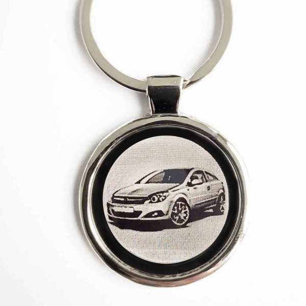 Opel Astra GTC Gravur Schlüsselanhänger personalisiert