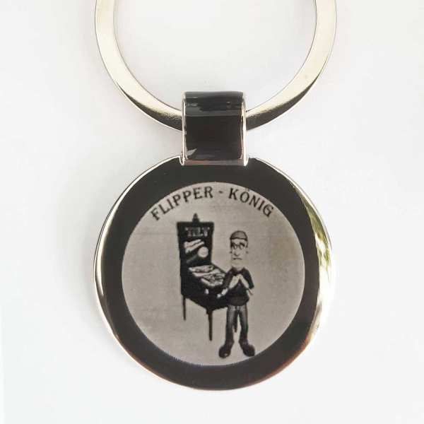 Flipper Comic Gravur Schlüsselanhänger personalisiert - original Fotogravur