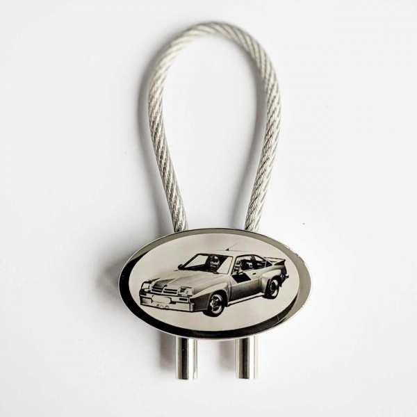 Opel B Manta Schlüsselanhänger personalisiert - original Fotogravur