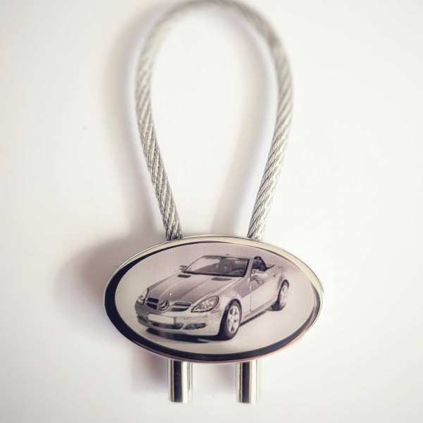 Mercedes SLK Schlüsselanhänger personalisiert - original Fotogravur