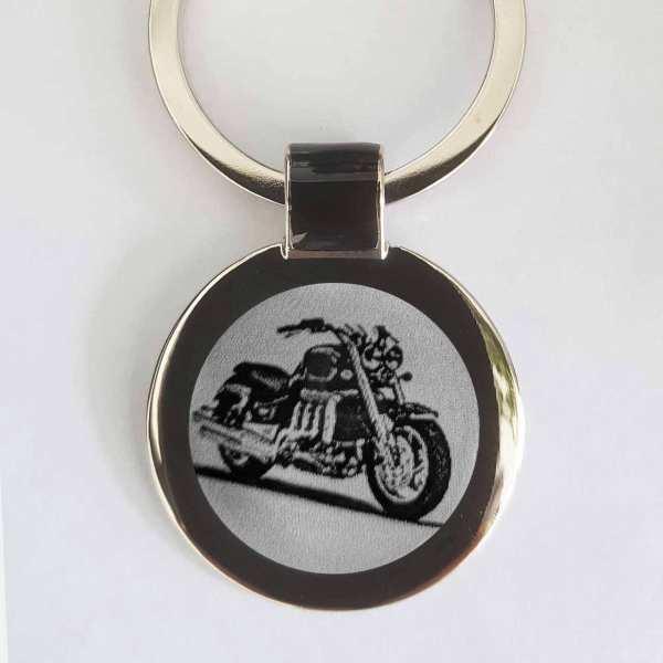 Triumph Rocket III Bike Schlüsselanhänger personalisiert - original Fotogravur