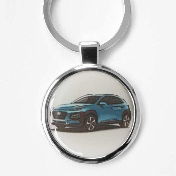 Hyundai Kona Schlüsselanhänger personalisiert mit Gravur