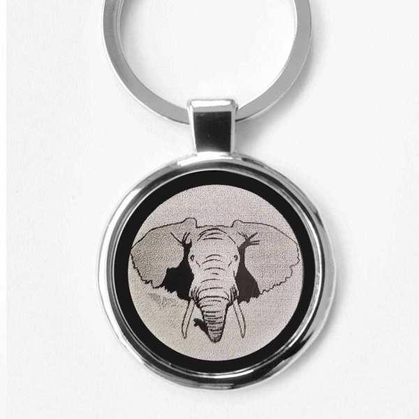 Elefant Gravur Schlüsselanhänger personalisiert - original Fotogravur