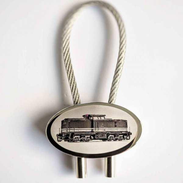 Diesellok V100 Schlüsselanhänger personalisiert - original Fotogravur