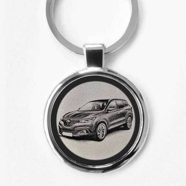 Renault Kadjar Gravur Schlüsselanhänger personalisiert - original Fotogravur
