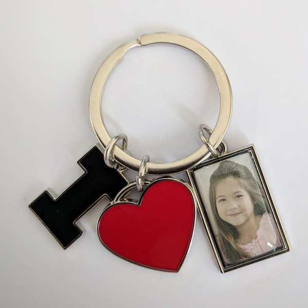 Schlüsselanhänger mit Foto und Gravur Fotogeschenk