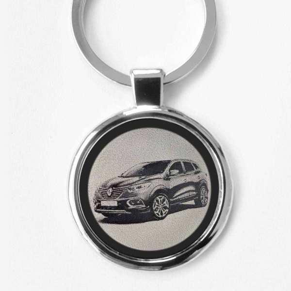 Renault Kadjar Modell 2019 Gravur Schlüsselanhänger personalisiert - original Fotogravur