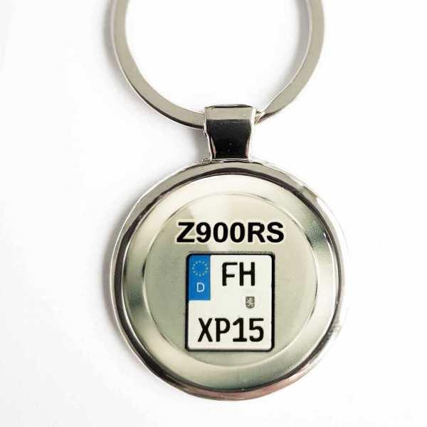 Kawasaki Z900RS Kennzeichen Schlüsselanhänger personalisiert & Gravur