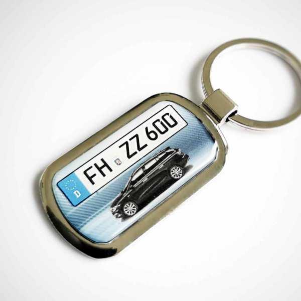 Fiat Tipo Kombi Kennzeichen Schlüsselanhänger personalisiert mit persönlicher Gravur