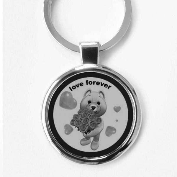 Love Forever Gravur Schlüsselanhänger personalisiert
