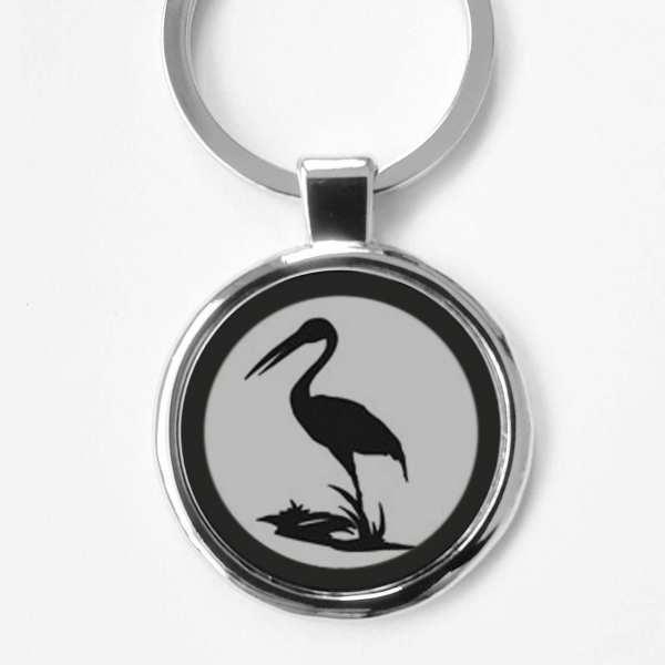 Storch Gravur Schlüsselanhänger personalisiert mit Gravur