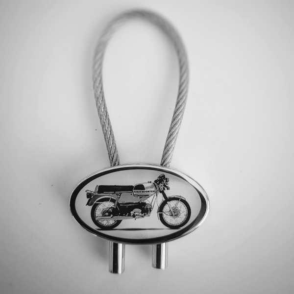Kreidler Florett RS Schlüsselanhänger - original Fotogravur