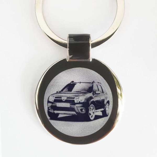 Dacia Duster Schlüsselanhänger personalisiert - original Fotogravur