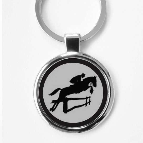 Springreiten Gravur Schlüsselanhänger personalisiert