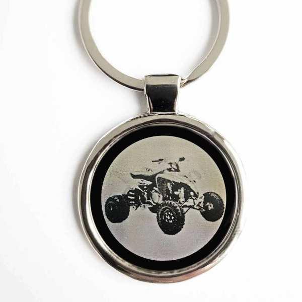 Suzuki Quad Gravur Schlüsselanhänger personalisiert - original Fotogravur