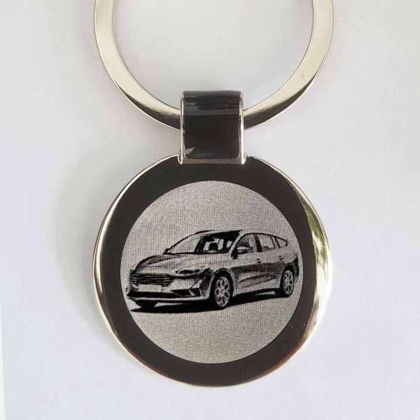 Ford Focus 2018 Gravur Schlüsselanhänger personalisiert - original Fotogravur