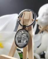 Fotogravur Schlüsselanhänger Oval
