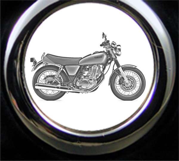Yamaha SR400 Motorrad Gravur Schlüsselanhänger