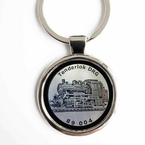 Tenderlok DRG 89 004 Gravur Schlüsselanhänger personalisiert