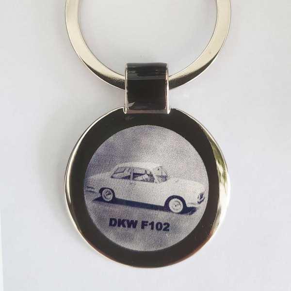DKW F102 Schlüsselanhänger personalisiert - original Fotogravur