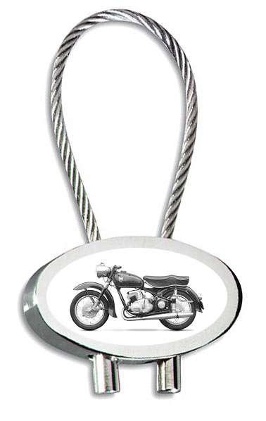 Adler MB250 Motorrad Schlüsselanhänger mit Gravur