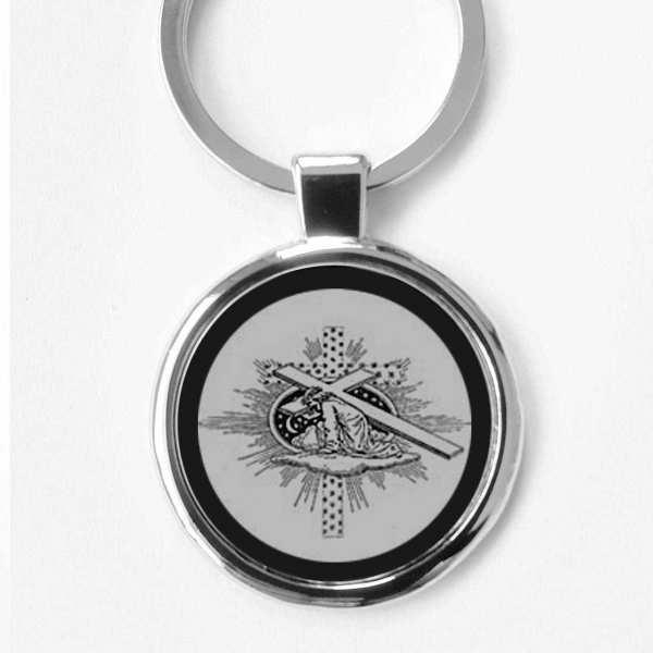 Kreuzgang Gravur Schlüsselanhänger personalisiert