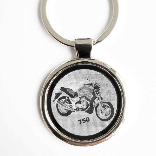 Moto Guzzi 750 Breva Motorrad Gravur Schlüsselanhänger - original Fotogravur
