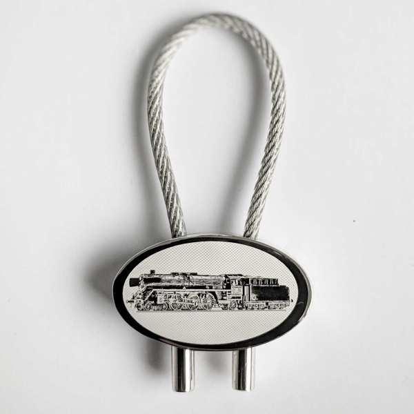 Dampflok BR001 Schlüsselanhänger mit Gravur - original Fotogravur