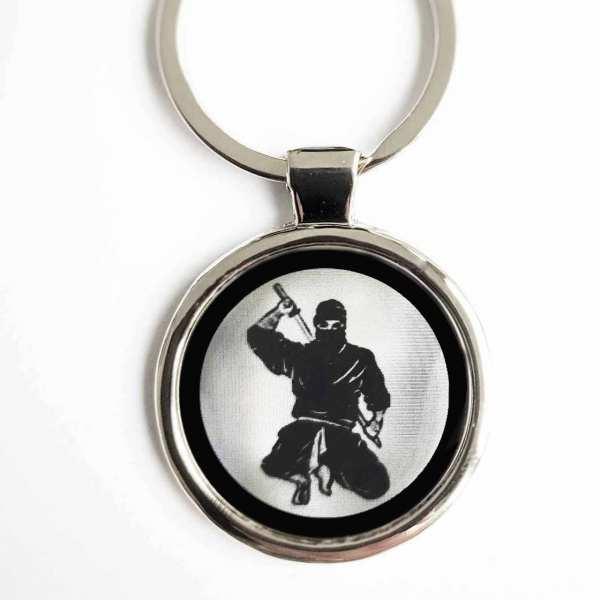Ninja Gravur Schlüsselanhänger personalisiert - original Fotogravur