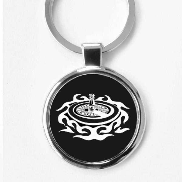 Roulette Casino Schlüsselanhänger personalisiert mit Gravur