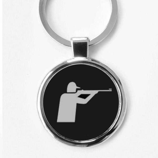 Sportschiessen Pictogramm Schlüsselanhänger