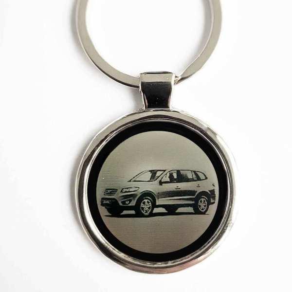 Hyundai Santa Fe Gravur Schlüsselanhänger personalisiert