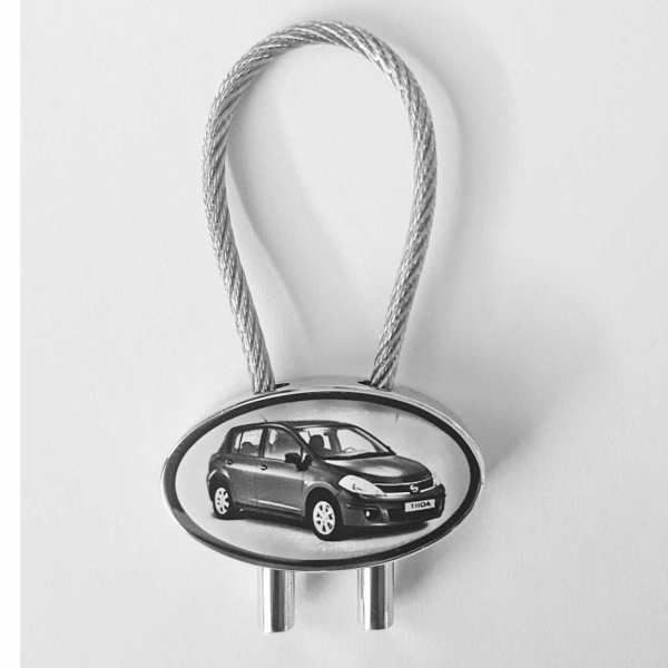 Nissan Tiida Gravur Schlüsselanhänger personalisiert - original Fotogravur