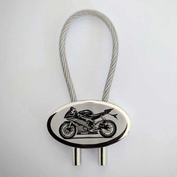 Yamaha YZF R6 Bike Gravur Schlüsselanhänger - original Fotogravur